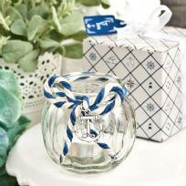 Nautical Anchor Clear Glass Candle Holder